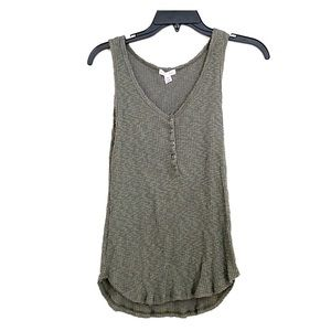 Melrose and Market olive green henley tank